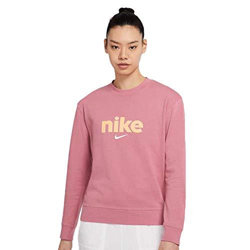 Nike Women's Sportswear Loose Fit Sweatshirt Pink CU5034 614 (x_s)