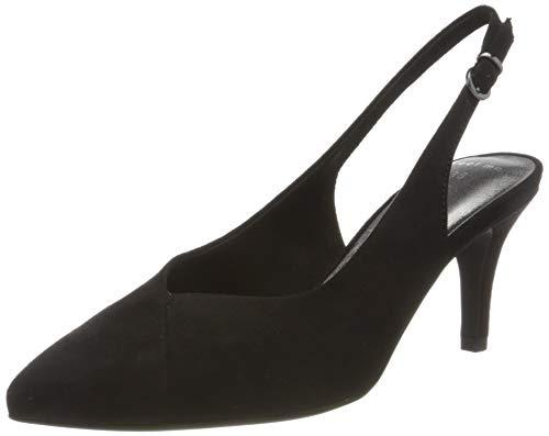 MARCO TOZZI 2-2-29611-24, Sandali con Cinturino alla Caviglia Donna, Nero (Black 001), 37 EU