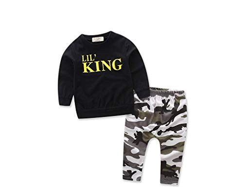 Peuter Jongens Kleding Set Letter Lange Mouw T-Shirt Tops+Camouflage Broek Herfst Winter Kinderen Kinderen Outfits Kleding Sets