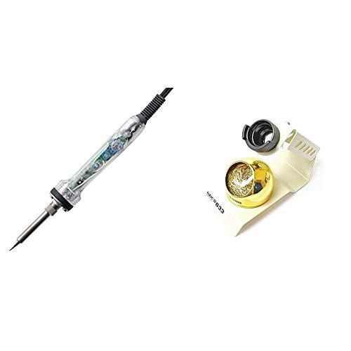白光(HAKKO) 【Amazon.co.jp限定】 ダイヤル式温度制御はんだこて 基盤が見える クリアタイプ FX600A No.Y163 & 白光(HAKKO) こて台 633-01【セット買い】