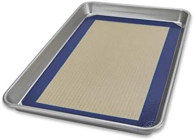 USA Pan Bakeware Nonstick Quarter Sheet Pan and Silicone Mat Set product image