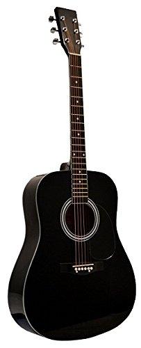 Directly Cheap 6 String Acoustic Guitar Pack, Right Handed, Black, Full (GA41-BK+DVD-1)