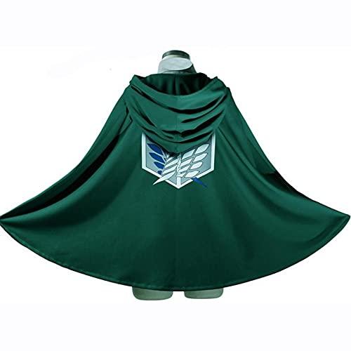Disfraz de anime de ataque a Titan Cloak Shingeki no Kyojin Scouting Legion Aren / Levi Capes