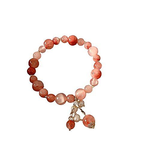 Jewelrypearl - Pulsera para niña con corazón y novia, joyería de mano minimalista,