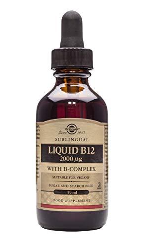 Solgar Liquid B12 2000 µg with B-Complex, 59ml