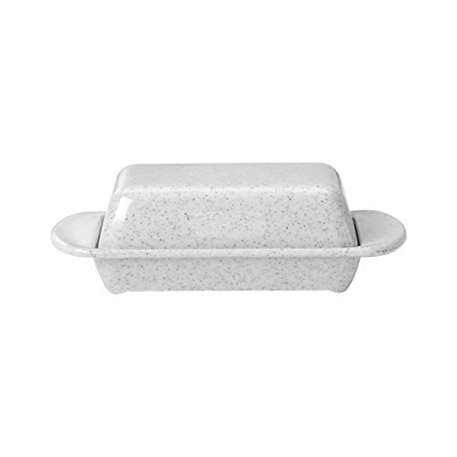 WACA® 0322-940 Melamin-Tischbutterdose mit Deckel Aufbewahrung 170x150x50 mm granit