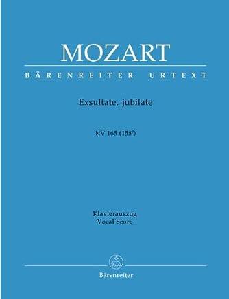 EXSULTATE JUBILATE KV 165 - arrangiamento per pianoforte [Note musicali/spartito] Compositore: MOZART WOLFGANG AMADEUS