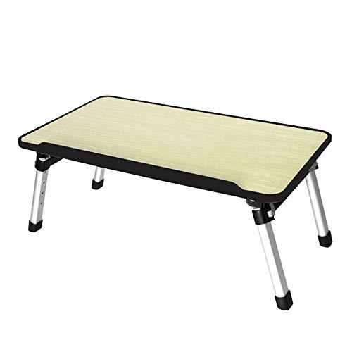 WYJW Opvouwbare laptop bed tafel hoge bureau vloer tafel draagbare tuintafel outdoor campingtafel licht mini picknicktafel, 52 x 30 x 24~32 cm, in hoogte verstelbaar (Kleur: zwart)
