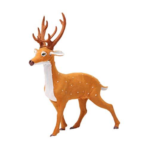 VALICLUD Figurine Di Cervo Giocattoli Cake Toppers Figurine Di Renne Di Natale Statue Foresta Animali Del Bosco Figure Centrotavola Decorazioni Natalizie 40 Cm