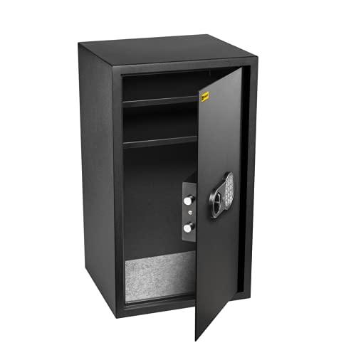 Homesafe HV70E Cassaforte Elettronica, 70x40x36cm (HxWxD), Satin Nero di Carbonio