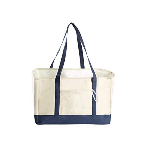 Cozy69 Bolsa de compras para comestibles de gran capacidad reutilizable aislada Tote hogar viaje picnic a prueba de fugas Bolsas de compras portátiles plegables con bolsillo de supermercado de nylon