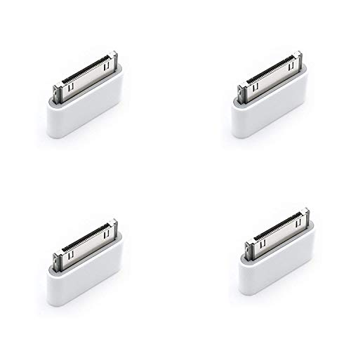 Micro-USB to 30-pin Adapter Charger Converters for iPhone 3G/3GS/4/4S (Pack of 4)