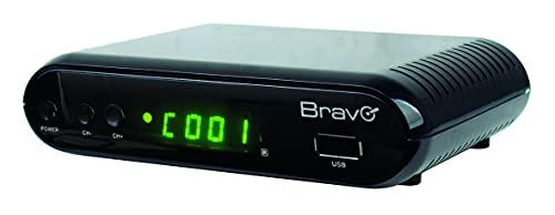 Bravo Decodificador digital terrestre Full HD 1080p – DVB-T2 – Con puerto Eternet