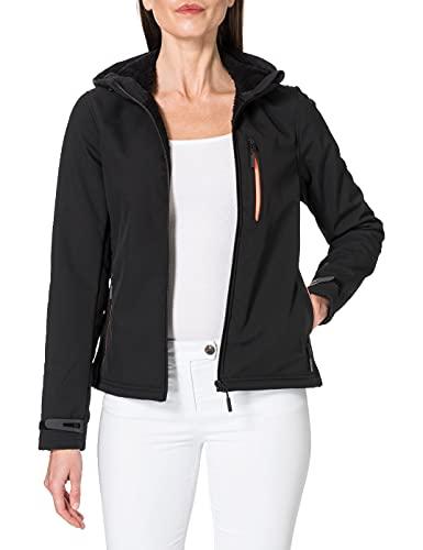 Superdry Womens Arctic Soft Shell Jacket, Black, XL
