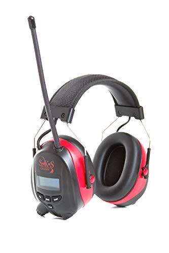 S•K•S 1195 Bluetooth-Kapselgehörschutz rot/schwarz + Radio Digital FM & DAB+, SNR: 30 dB(A) inkl. 1x Akku