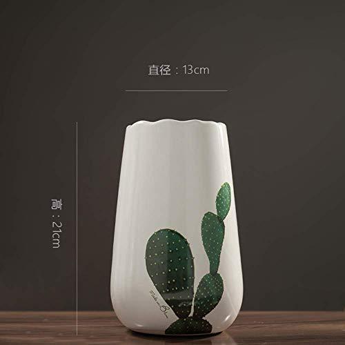 n Vaas salontafel Kleine Verse Bloem Arrangement Keramische Vaas Decoratie Kamer TV-kast Cactus Mooie Sculptuur Landschap Keramische vazen Decoraties