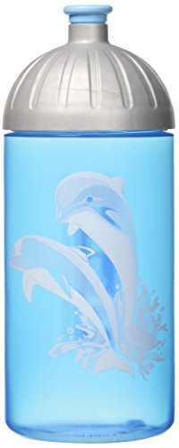 Step by Step Happy Dolphins – Drinking Bottles (Silver, Turquoise, Active Lid)