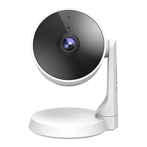 D-Link DCS-8325LH Telecamera Wi-Fi Smart, Full HD 1080p, visione notturna, registrazione video su cloud, rilevamento multi-zona di persone/confini, compatibile con Alexa e Google Assistant