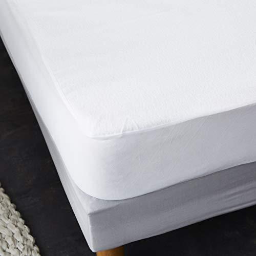 Sweetnight - Protège Matelas Lit Articulé Alèse Imperméable et Anti Acariens Molleton 100% Coton Silencieux et Respirant 2 x 80 x 200 cm