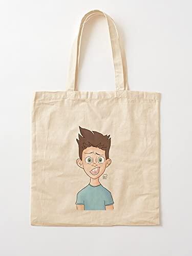Générique Cartoon Shanty Cute Wild Confused Green Eyes Funny Stressed Draw | Einkaufstaschen aus Segeltuch mit Griffen, Einkaufstaschen aus nachhaltiger Baumwolle