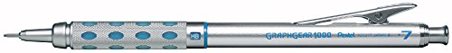 Pentel Graph Gear 1000 Automatic Drafting Pencil, 0.7mm Lead Size, Blue Barrel, 1 Each (PG1017C)