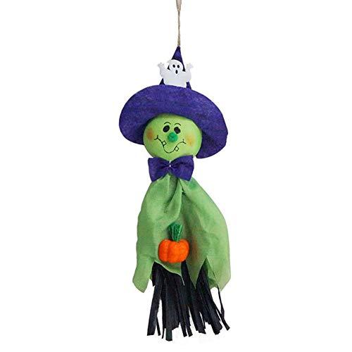 EDQZ Halloween-Dekoration für den Außenbereich, Horror, Geister-Tippe, für Hängevorhänge, Anhänger, Zubehör zum Basteln, Dekoration