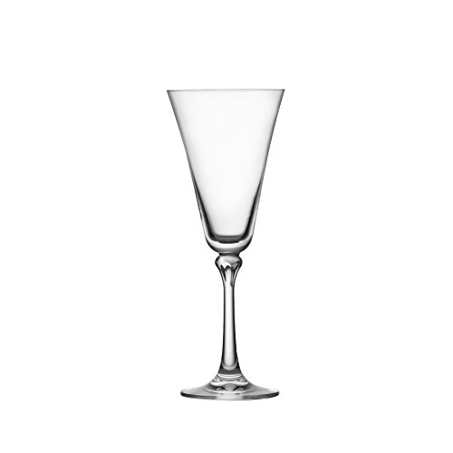 Schott Zwiesel Tritan Crystal Glass Charlotte Stemware Collection White Wine Glasses (Set of 4), 10 oz, Clear