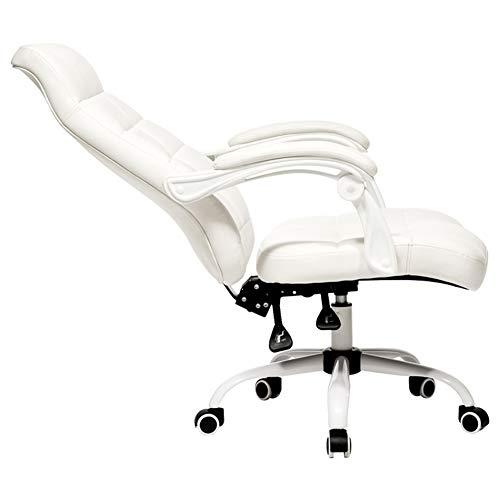 Schreibtischstühle Bürostuhl Office Sessel Stuhl Ergonomisch Büro Drehbare Rückenlehne Moderner Lederstuhl Weiß Schreibtischstuhl Test ZHANGGUOHUA