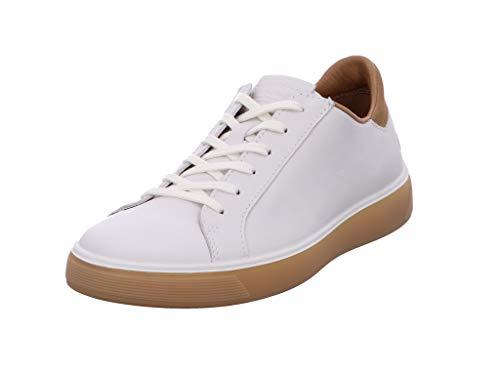 ECCO mens Street Tray Classic Sneaker, White/Cashmere, 10-10.5 US