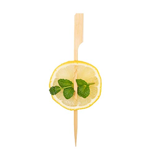 5.9 Inch Wood Skewers, 1000 Disposable Paddle Picks - Sturdy, Paddle Design, Natural Bamboo Paddle Sticks, For Barbeques, Parties, Or Buffets - Restaurantware