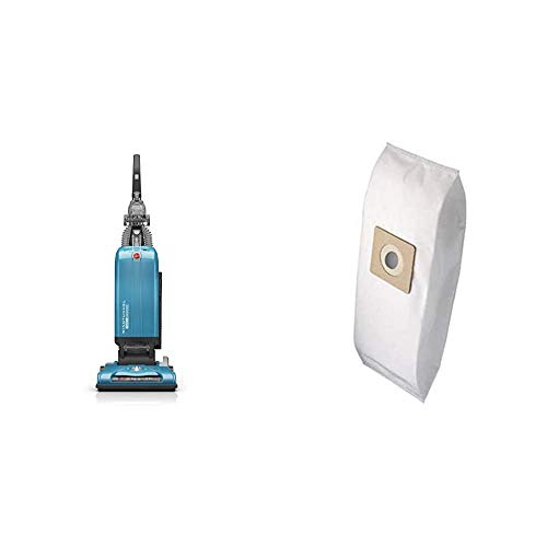 Hoover WindTunnel T-Series Tempo Bagged Upright Vacuum Cleaner with HEPA Media Filter, UH30301, Blue and Hoover Type Y Replacement for Upright Vacuum Cleaner 2PK 3M HEPA Bag, White