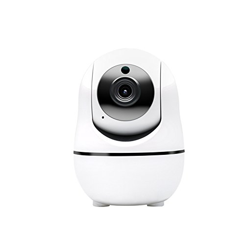 Ouvis veezon VZ1 WiFi 720P HD Pan Tilt Wireless Smart IP Camera Surveillance System for Android/iOS/iPhone/iPad/Tablet, White