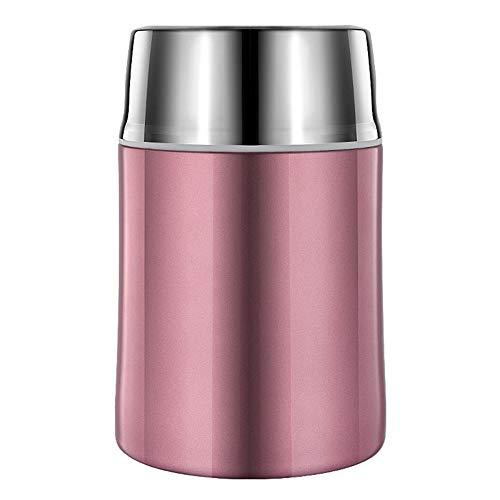 Isolier Speisegefäß Dopelwandig Auslaufsicher Edelstahl Thermobehälter 700ml Mit Klapplöffel Für Lebensmittel Und Trinken(Rose gold)