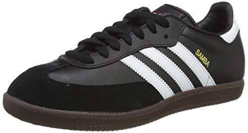 adidas Unisex-Erwachsene Samba Leder Sneaker, Schwarz (Black/Running White Footwear), 38 2/3 EU