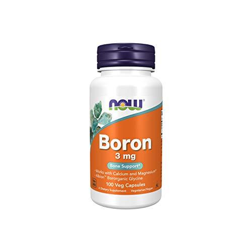 NOW 3mg Boro Supplement 100 Cápsulas de Verduras 100 g