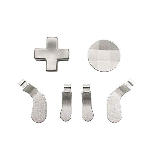 E-WOR Modded Metal Ersatz 4 Paddel und 2 D'Pads Kit für Xbox One Elite Controller Serie 2 (Silber)