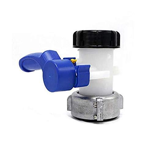 TOOLSTAR Vanne papillon, 1000 L IBC - Adaptateur de robinet DN50 - Raccord de tuyau de remplacement (75 mm, aluminium)