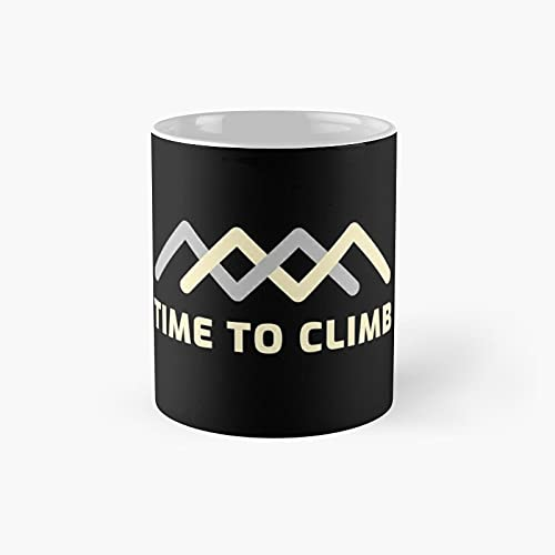 Time To Climb Classic Mug - Ceramic Coffee White (11 Ounce) Tea Cup Gifts For Bestie, Mom And Dad, Lover, Lgbt