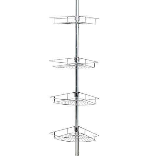 Zenna Home Pole Shower Caddy Chrome