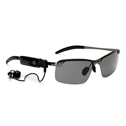ZQYR Sunglasses# Wireless Bluetooth Gafas de Sol Auriculares estéreo Digital Gafas con Reproductor de Auriculares para Smartphones,Marco Gris