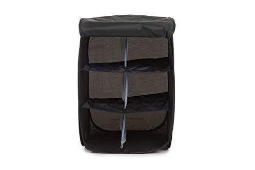 InstaCubby Pop-Up Organizer & Shoe Storage, Black (17' x 12' x 12', 8 oz.) Pops Open - Ready to Use