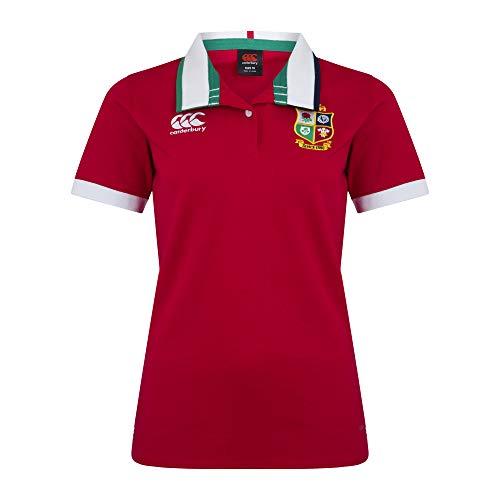 Canterbury Damen British and Irish Lions Rugby-Trikot, kurzärmelig M Rot - Tango Red