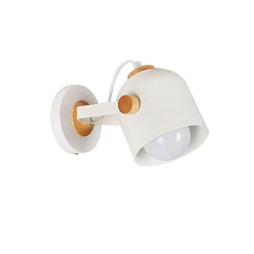 G-W-J moderne minimalistische metalen houten wandlamp, verstelbare hoek, slaapkamer hoofdbord Aisle creatieve wandlamp, plafond lamp
