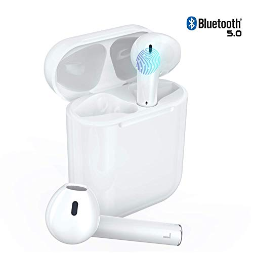 Drahtlose Kopfhörer Bluetooth-Ohrhörer-Headsets mit Geräuschreduzierendem Stereo-Sound Headsets In-Ear-Kopfhörer Sport Kompatibel mit ios 11/11 PRO/XS/XR/X/8/7/6/6s Plus Android S7/S8/S9/S10 Plus