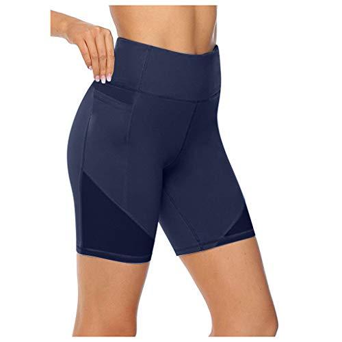 cinnamou - Basketball-Shorts für Damen in Dunkelblau, Größe 4XL