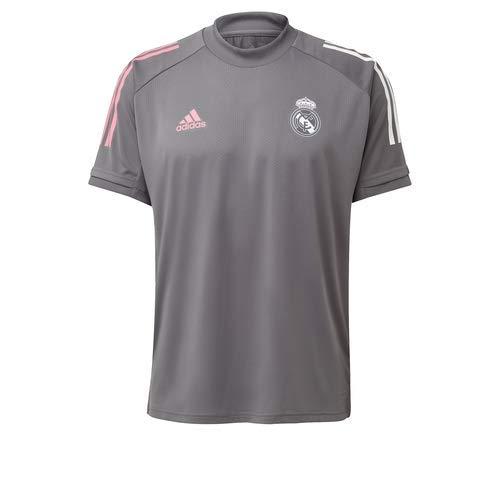 Adidas Real Madrid Temporada 2020/21 Camiseta Entrenamiento Oficial, Unisex, Gris, L