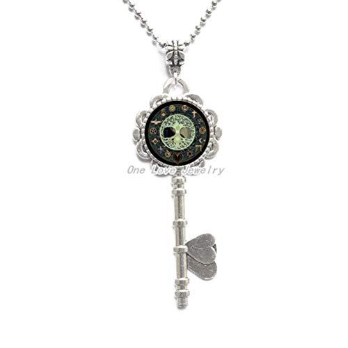 Ni36uo0qitian0ozaap Yin Yang - Collar con colgante de cristal con diseño de árbol para hombres y mujeres, accesorios de ropa, collar de llavero, joyería TAP250
