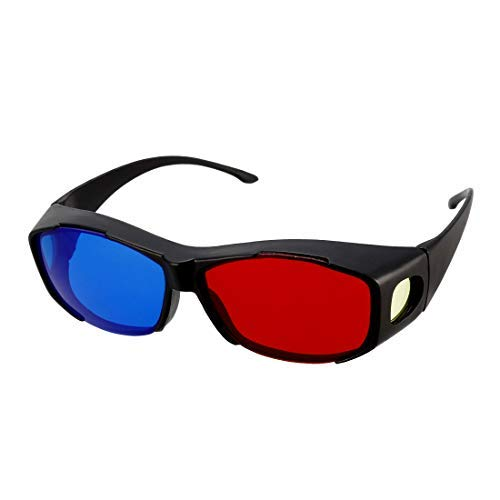 3 x 3D Red-Blue 3D Glasses Large Size for Red Glass - Blue Film Format/Anaglyph Image