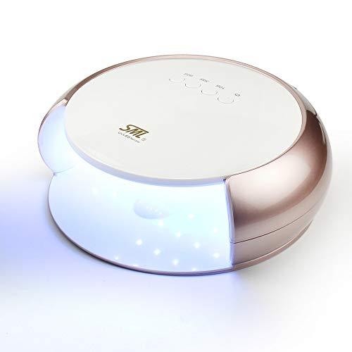 ZYC Lámpara UV LED de 48 W para secar uñas de gel con sensor inteligente para manicura de salón de belleza, color dorado