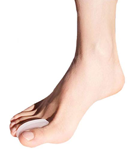 Pedimend Silicone Gel Toe Separator - Relieve Pain From Soft Grains, Onions, Toenail Separation - Thumb Valgus Protector - Reduce Toes Friction - Toe Straightener and Alignment - Foot Care